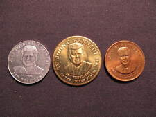 (3) Vintage John F. Kennedy U.S. Presidential Tokens - (3) Kennedy Coins Medals