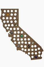 Beer Cap Traps California State Map Beer Soda Pop Bottle Wood Cap Caps Organizer