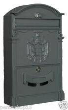 452 cassetta postale in alluminio pressofuso grigio ghisa serratura con cilindro