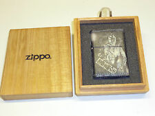 Vintage zippo lighter-Congo rikishi-FULL LEATHER-OVP-Never struck -2002
