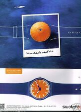 Publicité advertising 2013 La Montre Swatch Inspiration Grand Bleu