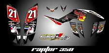 Yamaha raptor 350 YFM350 SEMI CUSTOM GRAPHICS KIT URA