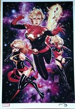 2016 SDCC MARK BROOKS CAPTAIN MARVEL ART PRINT SIGNED MS. CAROL DANVERS COMICS