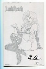Lady Death Tribulation #1 Valentine's RAW Variant Mike Debalfo Cover Signed /100