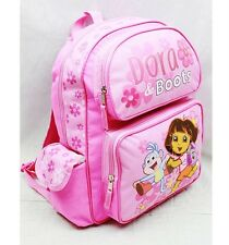"NWT Dora the Explorer 14"" Medium Backpack School Bag- Dora & Boots Pink"