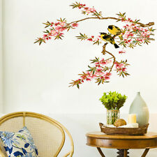 Large Birds On Flower Branch Wall Stickers Removable Home Decor Decal Art Mural