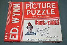 Vintage Ed Wynn Picture Puzzle Fire Chief Fireman (200 pc)