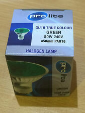 New Brand Prolite GU10 50W 240V True Colour GREEN PAR16