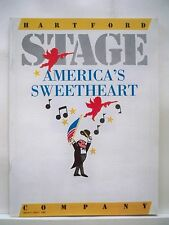 AMERICA'S SWEETHEART Large Program AL CAPONE Hartford Stage MUSICAL 1985