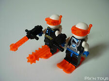 LEGO ESPACE / Minifigures SP018 Ice Planet Blonde Guy / SP019 Ice Planet Chief