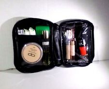 Black Vinyl Makeup Bag Kit Travel Pouch Cosmetic Bag Toiletry Organizer
