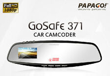 PAPAGO GoSafe 371 GS371 GPS Rear Mirror Car Camcorder◎1080p◎WDR◎Free Gift