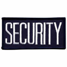 """Security White on Navy 4"""" X 2"""" sew on high quality patch/ EMBLEM GIFT?"""