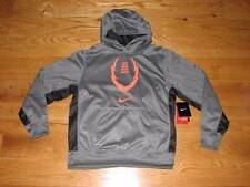 NEW NIKE THERMA-FIT Boys Grey Sweatshirt Hoodie Size M 10-12 Youth Football MED