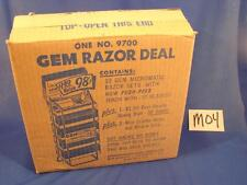 M04 VINTAGE 1940'S GEM MICOMATIC RAZOR BLADES FACTORY SHIPPING BOX ONLY