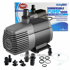 Active Aqua 1000 GPH Subersible Water Pump Aquarium Fountain Hydroponics Pond