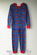 HANNA ANDERSSON Organic Long Johns Pajamas Cozy Cabin 80 18-24 months 2T 2 NWT