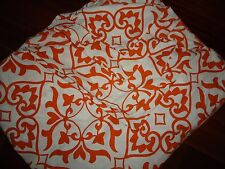 IKEA ANDREA KAKEL ORANGE & WHITE FLORENTINE FULL DUVET FLORAL 82X84 100% COTTON