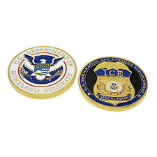 DHS ICE Challenge Coin Immigration and Customs Special Agent Police Badge Home