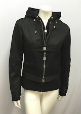 CHANEL IDENTIFICATION JACKET & HOODIE JACKET TWO PIECES 03A SIZE 38 BLACK SILVER
