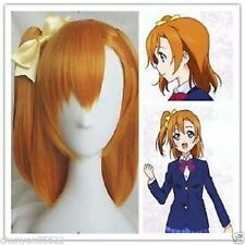 Lovelive! Love Live! Kousaka Honoka Styled Medium Orange Hair Cosplay Wig