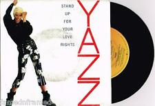 """YAZZ - STAND UP FOR YOUR LOVE RIGHTS - 7"""" 45 PROMO VINYL RECORD w PIC SLV 1988"""