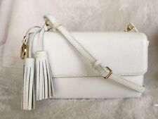 DKNY Vintage Style Leather Shoulder crossbody Bag Color- White