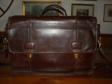 Vintage Coach Leather Briefcase Messenger Laptop  Brown  VG Condition