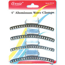 "Annie 4"" Aluminum Wave Clamps Hair Accessories Claw Pins Clips Firm Grip #3142"