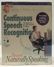 Dragon Naturally Speaking Continuous Speech Recognition CD-ROM - NEW - SEALED