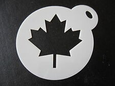Laser cut small maple leaf design cake, cookie,craft & face painting stencil
