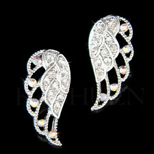 w Swarovski Crystal Filigree Fly Angel Fairy Wing Wings Stud Earrings Jewelry