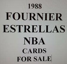 1988 FOURNIER ESTRELLA BASKETBALL SINGLES for SALE (from SPAIN) SINGLES FOR SALE