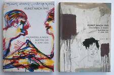 2 Auction Catalogs ART AFTER 1945 American & Int'l Hauswedell Nolte 1999 + 2000