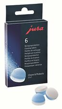 Pack of 6 Original JURA 2 in 1 Cleaning Tablets for Coffee Machine