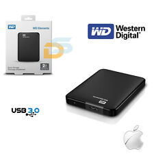 HARD DISK ESTERNO 2,5 2TB WESTERN DIGITAL HD 2000 GB WD USB 3.0 2.0 WINDOWS /IOS