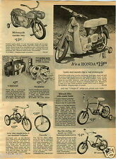 1965 PAPER AD Honda 50 Toy Motorcycle Bicycle Mattel Tigeroo Motor Coaster Wagon