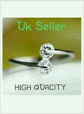 UK 925 sterling Silver zircon Ring Thumb Wrap Ring ANNIVERSARY BIRTHDAY GIFT BAG