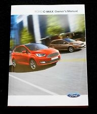 GENUINE FORD C-MAX HANDBOOK OWNERS MANUAL NAVI AUDIO SYNC 2015-2017 BOOK