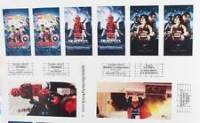 Stickers For LEGO 10232 Palace Cinema Deadpool Batman Superman Dawn of Justice