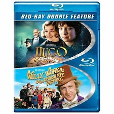 Hugo / Willy Wonka  the Chocolate Factory (Blu-ray Disc, 2014, 2-Disc Set) - NEW
