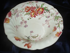 "ROYAL DOULTON SHERBORNE 9"" ROUND VEGTABLE SERVING BOWL D5915 MULTICOLORED FLOWER"
