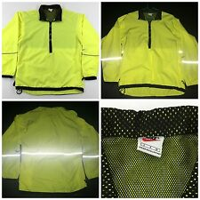 Vintage NIKE Highlighter 3M 1/2 Zip Breaker Jacket S Small Cycling Athletic