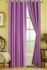 2 PCS LILAC SILK VOILE SHEER PANEL WINDOW CURTAIN 8 GROMMETS DRAPE 63""