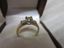 BEAUTIFUL ESTATE 14 KT GOLD  FANCY CHAMPAGNE  DIAMOND RING !!!!!!!!!