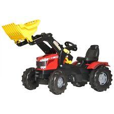 Rolly Toys Massey Ferguson 8650 Traktor mit Frontlader Trettraktor rot