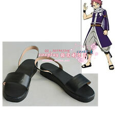 Fairy Tail Natsu Dragneel Black Cosplay Shoes S008