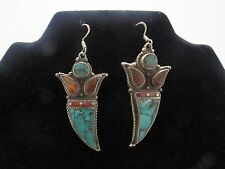 Fashion Nepalese Vintage Earrings Drop Dangle Ethnic Artificial Tribal Hand Made