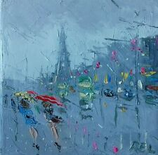 Blackpool-Tram-seaside-holidays-oil on stretched canvas-original painting