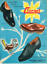 PUBLICITE ADVERTISING 084  1958  CLERGET   chaussures